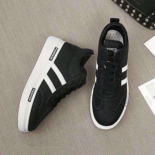 Cybling Casual Lage Sneakers Voor Dames Outdoor Wandelschoenen Zwart