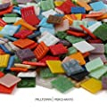 Milltown Merchants™ Mosaic Tiles - Bulk Mosaic Tile Assortment - 3/4 Inch (20mm) Mixed Colors Venetian Glass Tile - 7 Pound (112 oz) Craft and Backsplash Tile