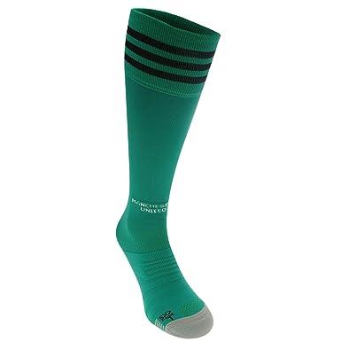 b0b13943ffd adidas Boys Man United Goalkeeper Home Socks 2018 2019 Green Mens 8.5-10   Amazon.co.uk  Clothing