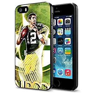 NFL Green Bay Packers Aaron Rodgers, Cool iPhone 5 5s Smartphone Case Cover Collector iphone Black