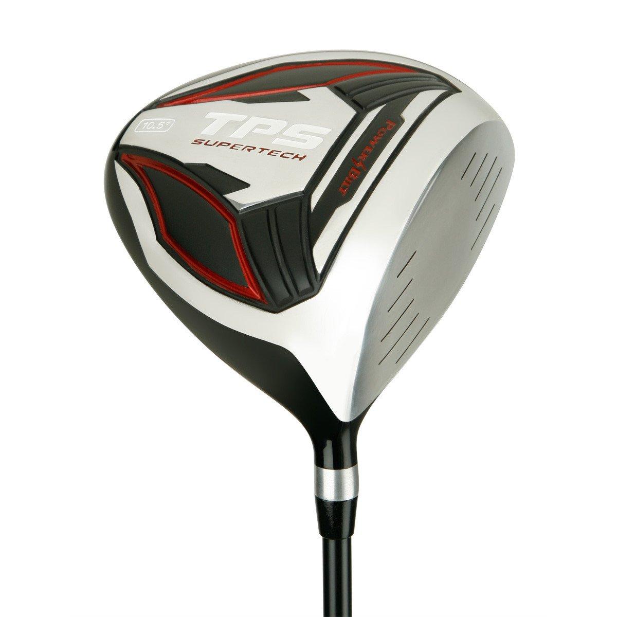 PowerBilt Golf TPS Supertech 10.5 Degrees Offset Driver, Black/Red, Right Hand