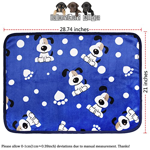 Image of kiwitatá Super Soft Puppy Dog Cat Blanket Premium Flannel Dog Kitten Sleep Bed Cover Mat for Dog Beds/Crate/Kennels (Large,41×30 inch)