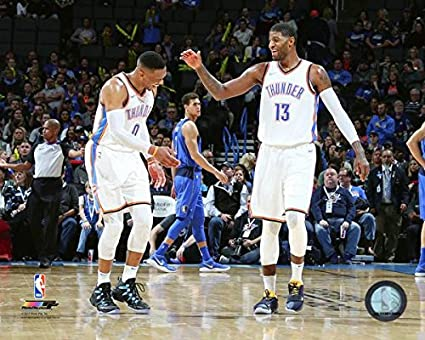 Amazon Com Russell Westbrook And Paul George Okc Thunder