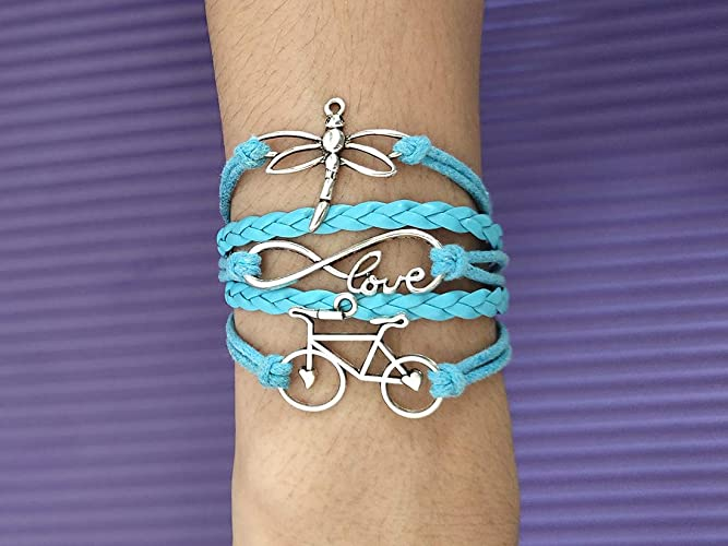 ea5792afd048c Amazon.com: Personalized Charm Dragonfly Bracelet Infinite Love ...