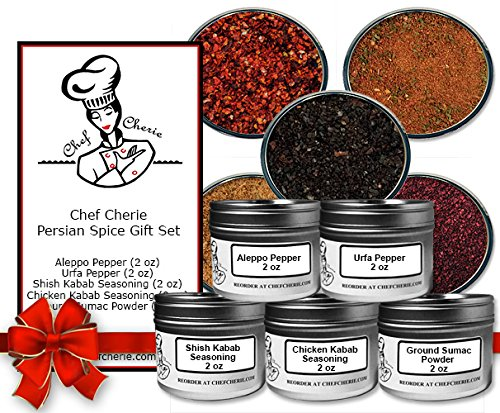 Chef Cherie's Persian Spice Gift Set-Contains 5 2 oz. Tins