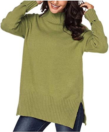 Jersey Mujer Primavera Camisa Mujer Raya Cuello Redondo Manga Larga Suelto Blusa Casual Otoño Shirt Top Negro Amarillo Verde,C,S: Amazon.es: Hogar