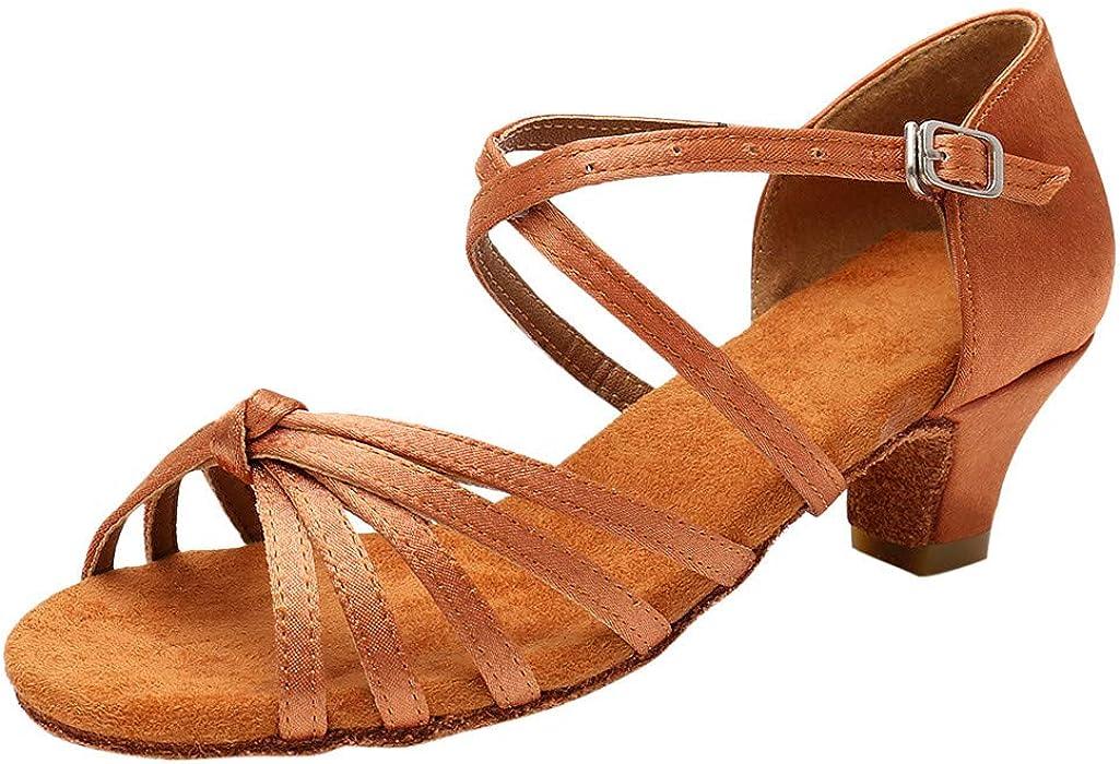 LILICAT ✈✈ 2019 Zapatos de Baile de Tango Latino para niños Zapatos de Baile Zapatos para Practicar Zapatos de Princesa Zapatos de Cuero pequeños Zapatos