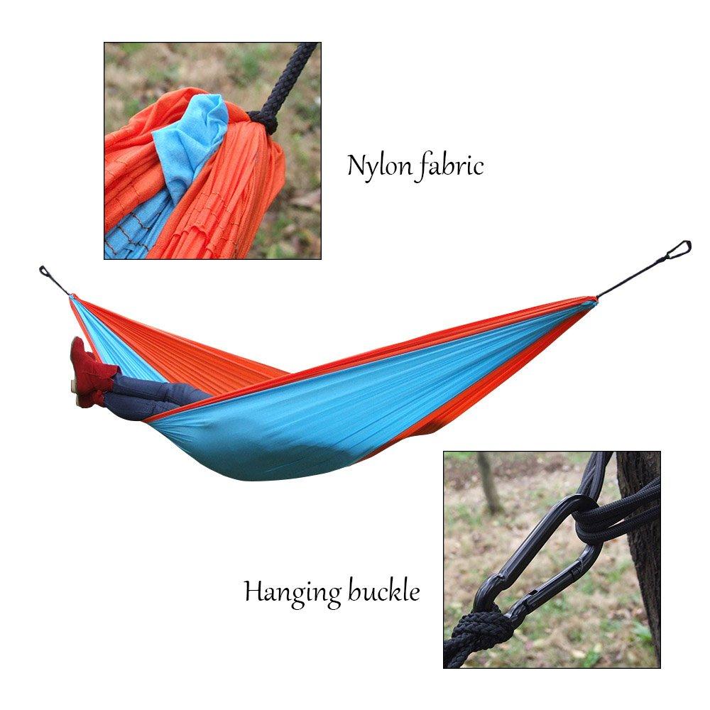 8ab1c0a17 Lixada Hamaca Portátil Durable Compacto para 2 Personas de Tela de Nylon  para Viajar Cámping: Amazon.es: Deportes y aire libre
