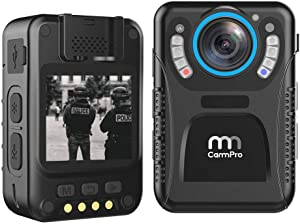 CammPro 128GB Body Worn Camera Advanced Video Coding 11 Hours Recording Ultralight 1440P HD Video Body Camera, Night Vision, Premium Surveillance Pocket Wearable Camera Recorder