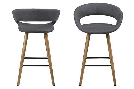 Mo living bar sedia con gambe in legno stile contemporaneo