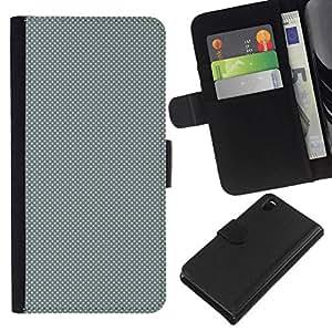 All Phone Most Case / Oferta Especial Cáscara Funda de cuero Monedero Cubierta de proteccion Caso / Wallet Case for Sony Xperia Z3 D6603 // GRAY DOTS PATTERN