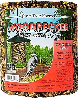 Pine Tree 8002 Woodpecker Classic Seed Log, 80-Ounce