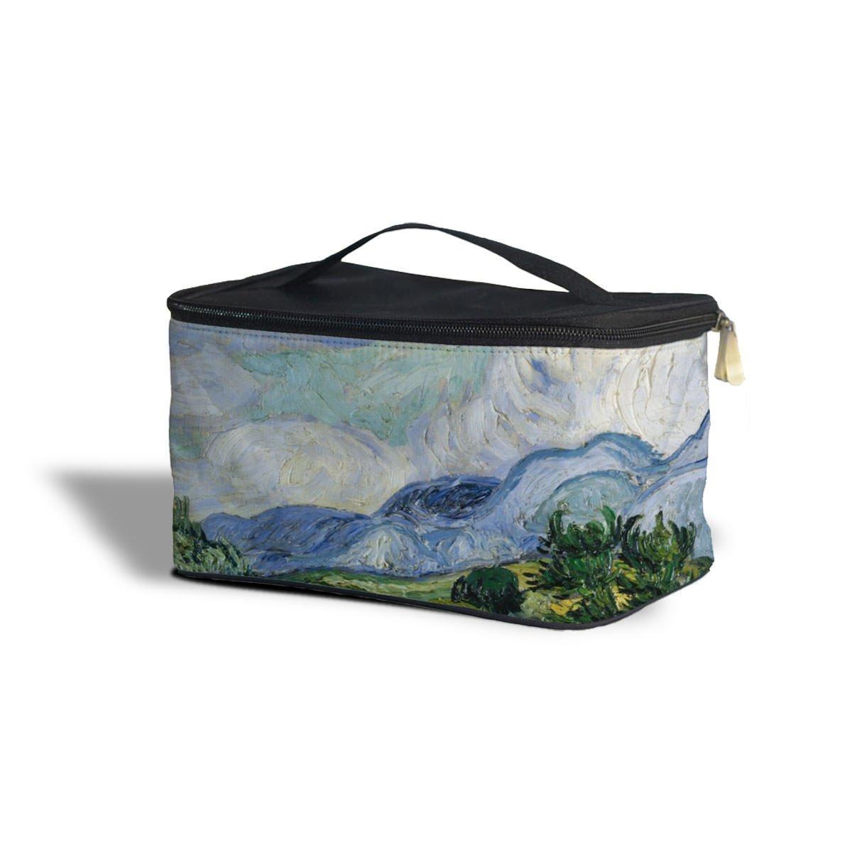Fine Art de Vincent Van Gogh Peinture cosmétiques boîte de rangement–Maquillage fermeture éclair sac de voyage One Size Cosmetics Storage Case multicolore Queen of Cases