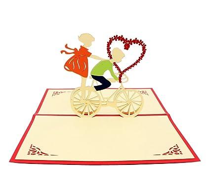 Amazon isharecards handmade 3d pop up greeting cards for isharecards handmade 3d pop up greeting cards for valentinesloverscouples valentines day m4hsunfo