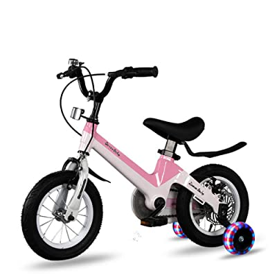 LINGS Foldable Bicycle Kids' Bikes Children's Bicycle 16 Inch 3-6-8 Years Boy Girl Bicycle: Home & Kitchen