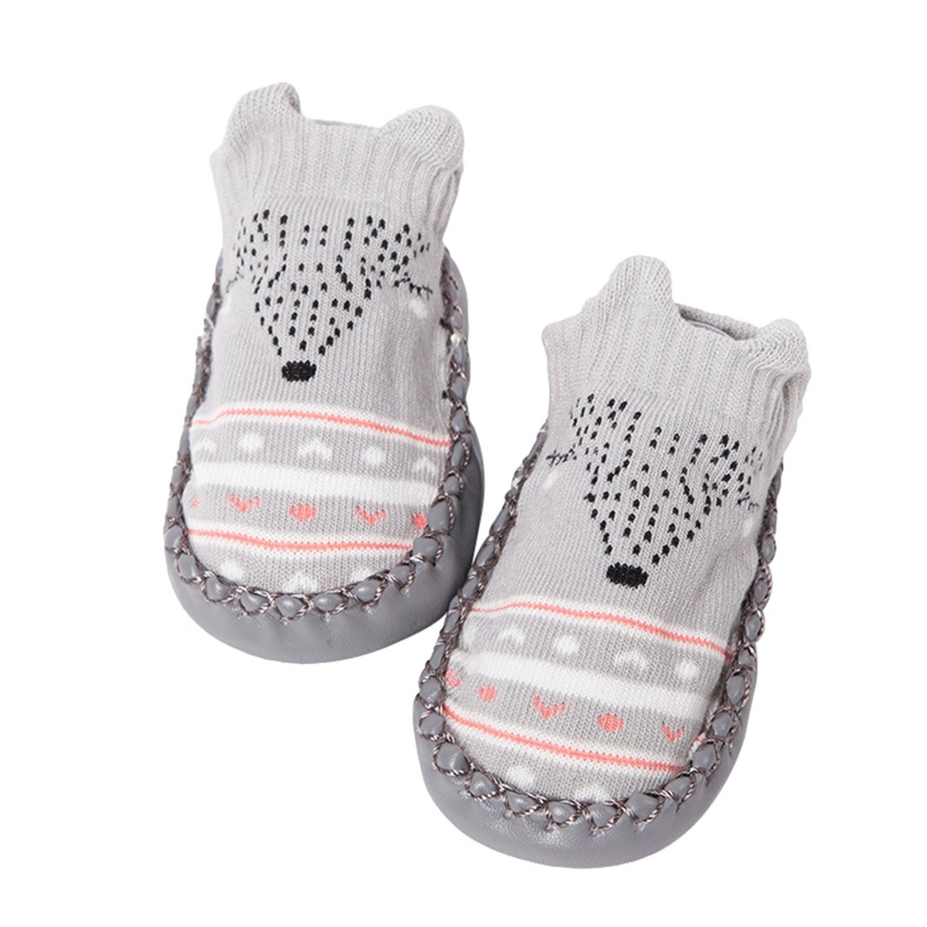 ink2055 Newborn Baby Socks Toddler Anti-Slip Faux Leather Bottom Floor Socks
