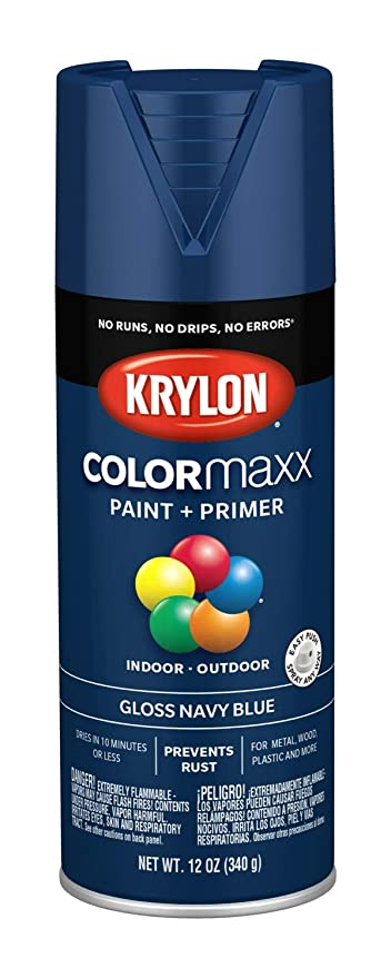 Krylon K05529007 Colormaxx Spray Paint Aerosol Navy Blue
