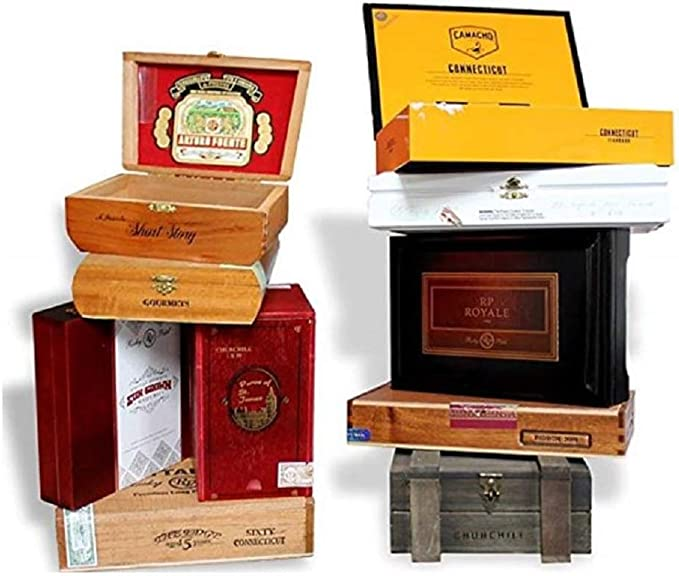 Wooden Empty Cigar Boxes Pack Of 10 Empty Home Kitchen