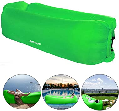 Amazon.com: Bry - Tumbona hinchable para playa, camping ...