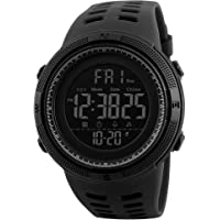 Digital Watch for Men,Males Waterproof Military Watches Casual Electronic Watches with Alarm Timer 2 Time Zone, Outdoor Sport Wrist Watch for Men Teens
