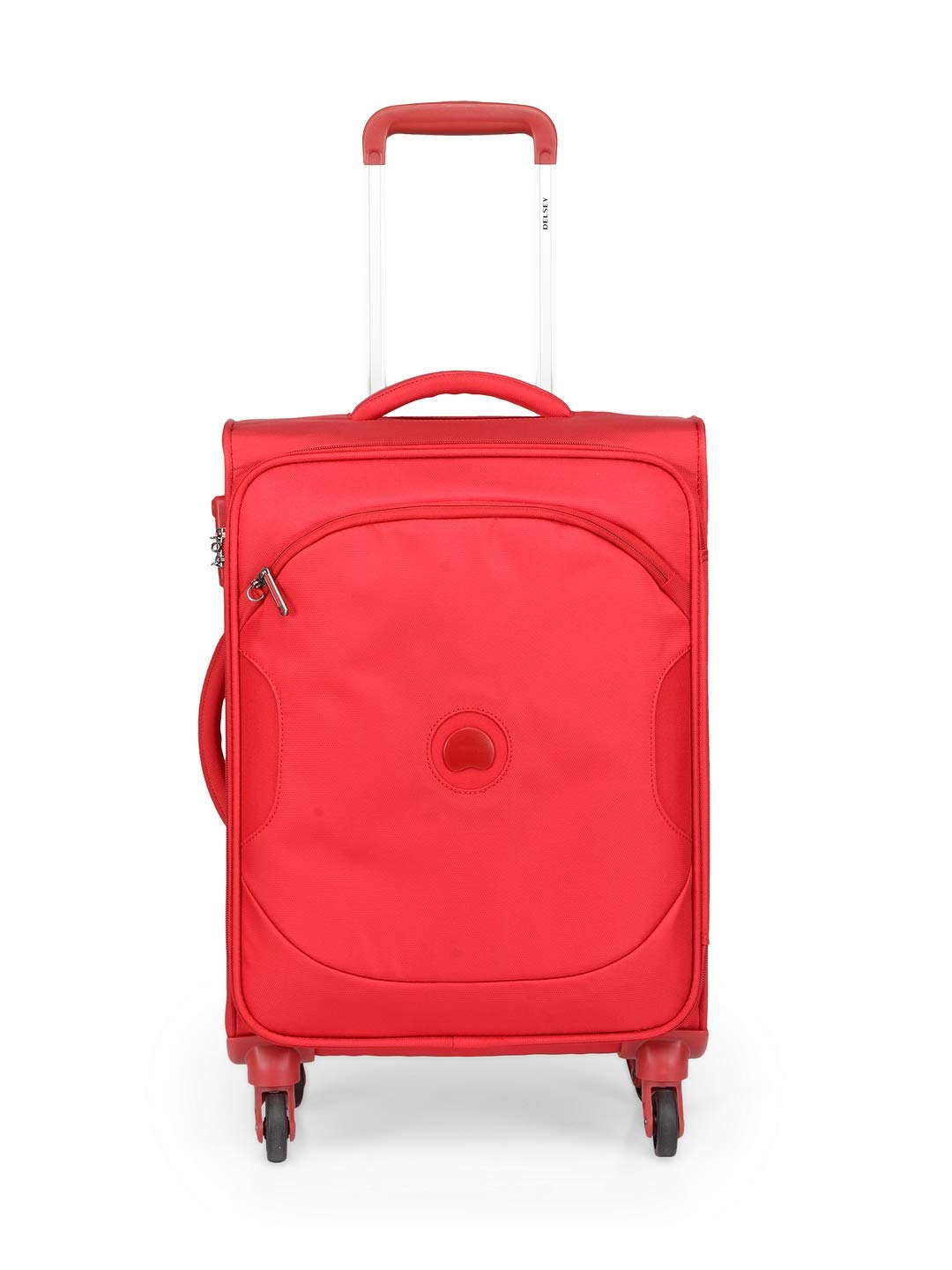 Delsey Polyester 55 Cms Red Softsided Cabin Luggage (U-LITE Classic 3)