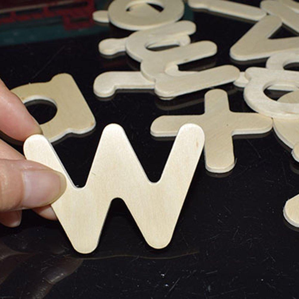 TOYMYTOY 26 Letras de madera decorativas juguetes educativos para ni/ños