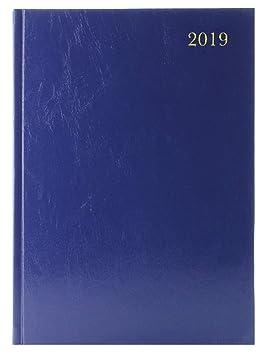 A4 2 páginas por día 2019 azul diario de escritorio ...