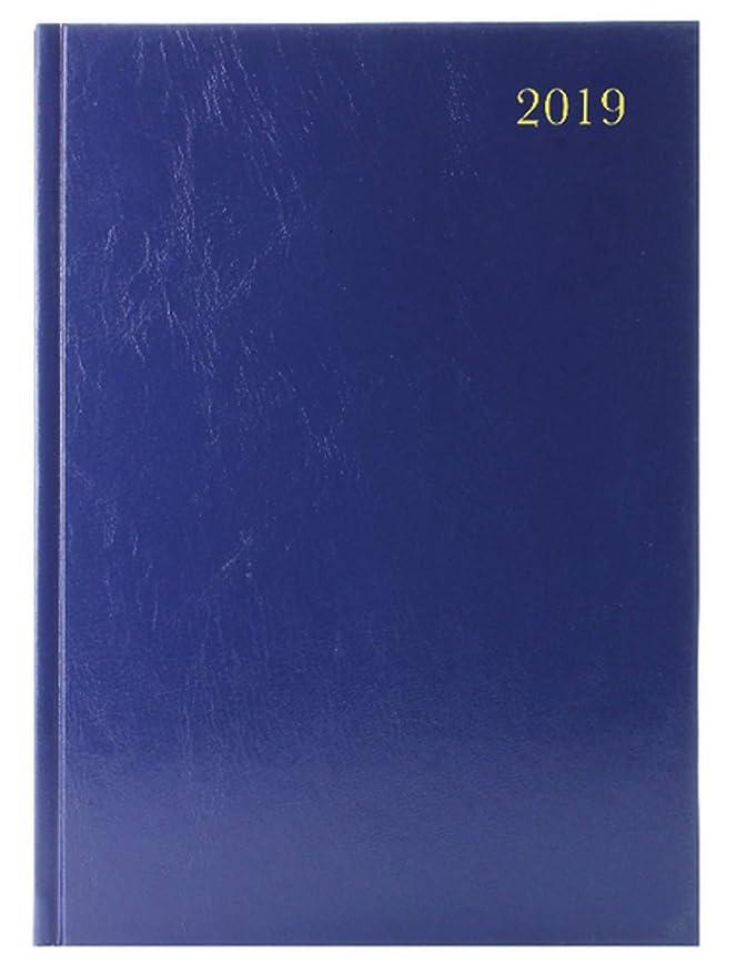 A4 2 Pages par Jour 2019 Bleu Agenda de Bureau KF2A4BU19