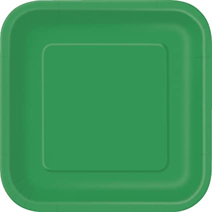 Square Green Paper Plates 14ct & Amazon.com: Square Green Paper Plates 14ct: Kitchen u0026 Dining