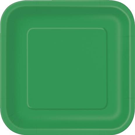 Square Green Paper Plates 14ct & Amazon.com: Square Green Paper Plates 14ct: Disposable Plates ...