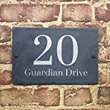 Slate House Sign Name Number Door House Sign 30x20cms