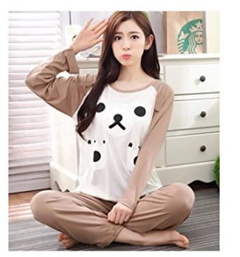 4e05f019bf Spring Autumn Women Pyjamas Cartoon Printed Cute Pattern Pajamas Set Thin  Pijamas Mujer Sleepwear Long Sleeve