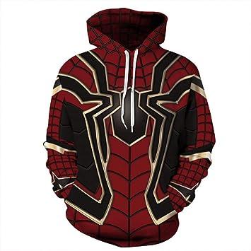 Chaohao@ Sudaderas con Capucha Jersey 3D Halloween Spider-Man Digital Print Sudadera con Capucha Amantes Tops De Gran Tamaño: Amazon.es: Deportes y aire ...