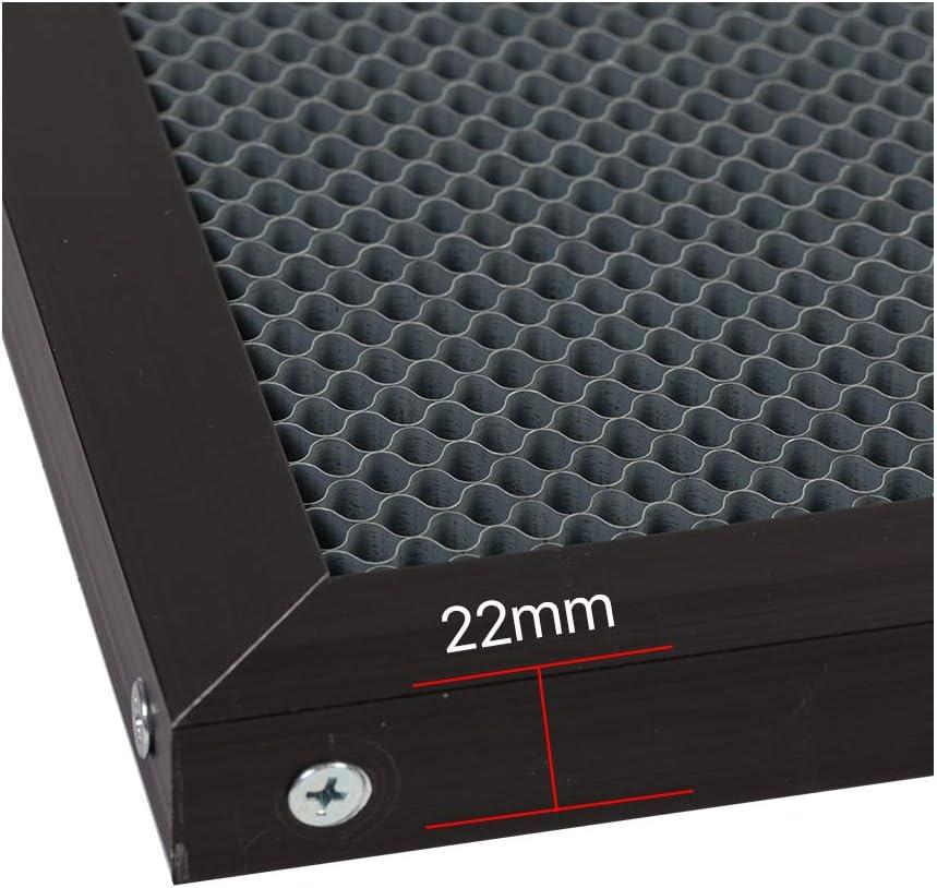 Cloudray Honeycomb Arbeit Tisch f/ür DIY CO2 Laser Graveur Work Size:200x300 Bore Diameter:5.5
