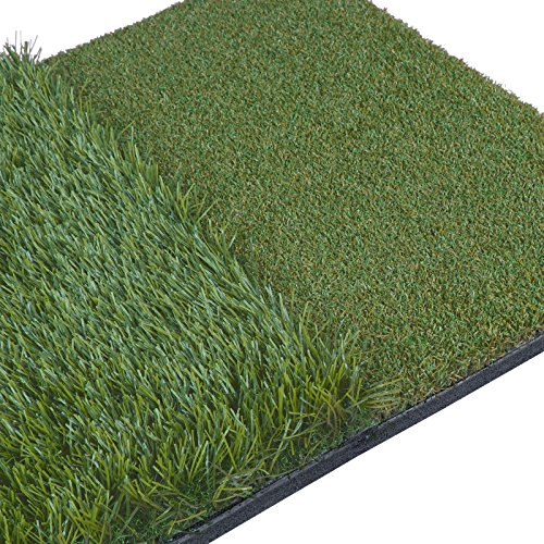 HOMGARDEN Golf Hitting Mat (25'' x 16'') Three Turf Types with Rubber Tee for Driving, Chipping and Putting Golf Practice and Training by HOMGARDEN (Image #6)