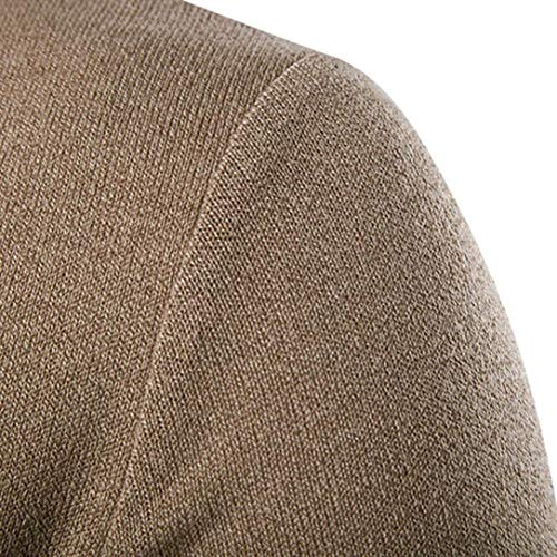 V Capa Manga Saoye Chaqueta Cuello Invierno Larga Punto Suéter Ropa Color La En Hombres Botón Otoño Fashion Rebeca Los Kaffee Sólido Con De wxFPqwp4U