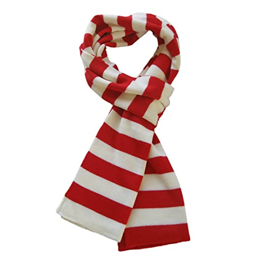 Trendsblue Soft Knit Striped Scarf Red White At Amazon Women S