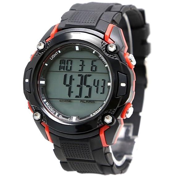Alexis Mujer Ronda Reloj Digital Negro Banda Plástica Blanco Marcar Impermeable Alarma Cronógrafo Luz Trasera 12/24h formato: Amazon.es: Relojes