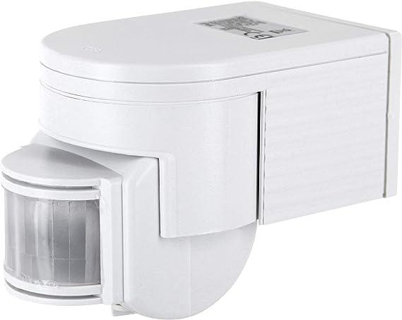 Detector de movimiento IP44 infrarrojos 180 ° – con sensor de oscuridad – orientable giratorio –