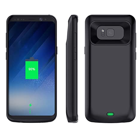 the latest de2df c327b Samsung S8 Charging Case 5000mAh Portable Fast Charging Slim Battery  Charger Case External Rechargeable Backup Type C Power Bank Case Protective  Cover ...