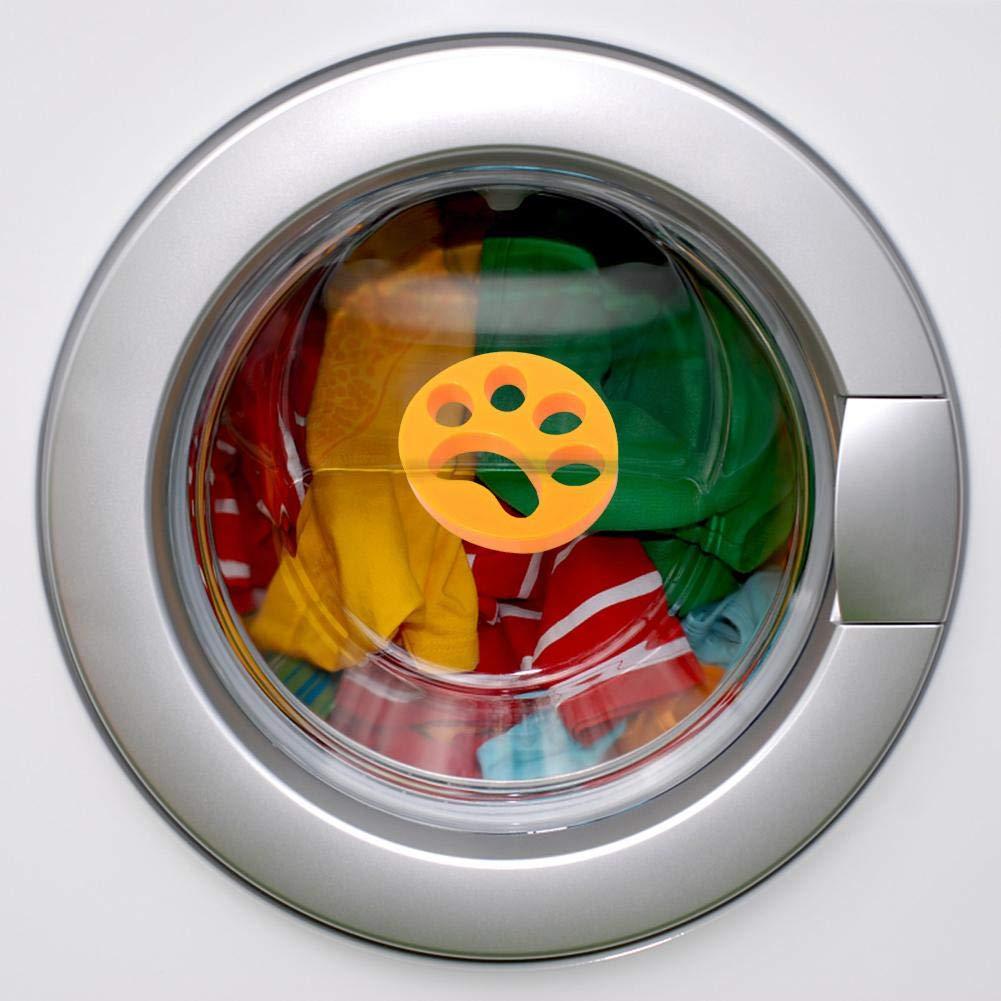 biteatey 2 Piezas de lavander/ía Bola Lavadora Pelusa Atrapador Filtro de Pelo Red Bolsa de lavander/ía Bola de lavander/ía Anti Mascota Bola de Pelo Reutilizable para Lavadora