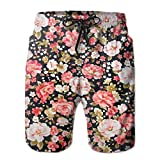 Adult Cool Hawaiian Style Flower Shorts For Men