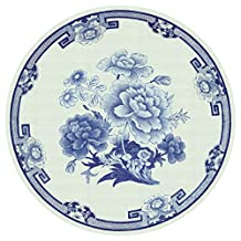 Caspari Entertaining with Salad/Dessert Plates, Blue and White, 8-Pack