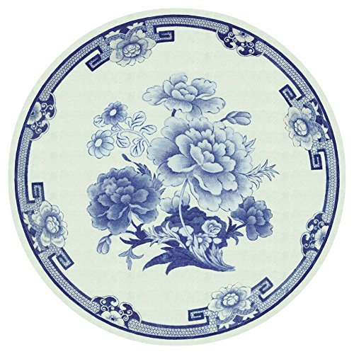 y Paper Plate Disposable, Blue and White Design, 8-Pack ()