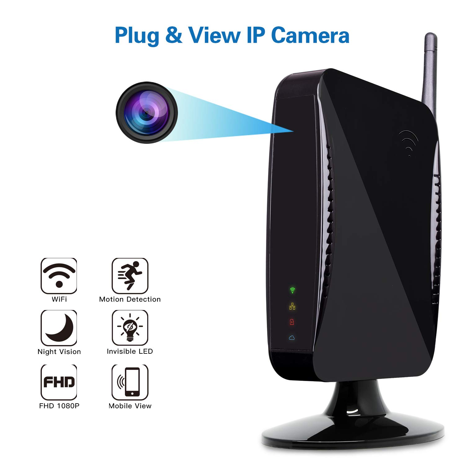 Hidden Camera - Spy Camera by Provision-ISR, WiFi 1080p HD Spy Cam, Remote Access App, Night Vision, Motion Detection, Wireless Security System by PROVISION ISR