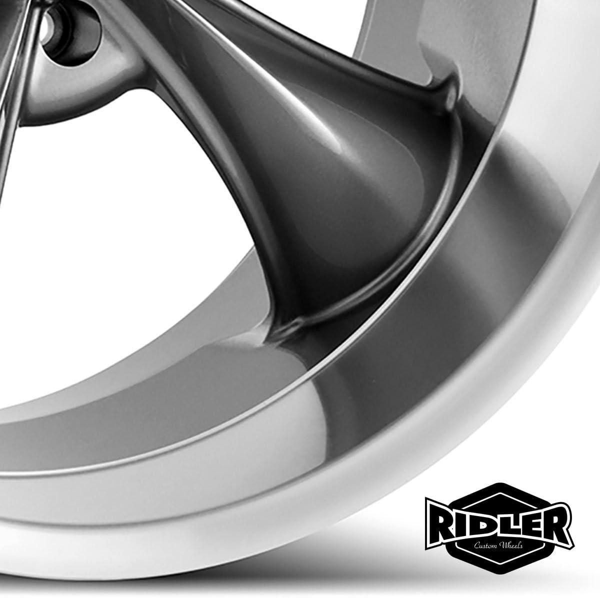 Ridler Style 695 695 Chrome Wheel 18x8//5x114.3mm