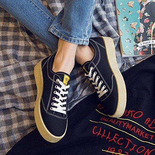 in Lacci Basse Casual Il Nero per Sneakers Mocassini Resistente in ZX e Suola Basse Tempo con Tela Scarpe Nero Bianco Libero Basse Sportive Fnq5YIw8