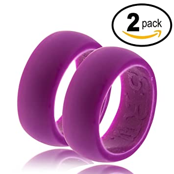 Amazoncom Mens 9mm Flexible Silicone Wedding Ring High
