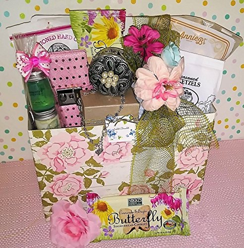 Teen Girl Sweet Treats Gift Basket with Heart Charm Ankle Br