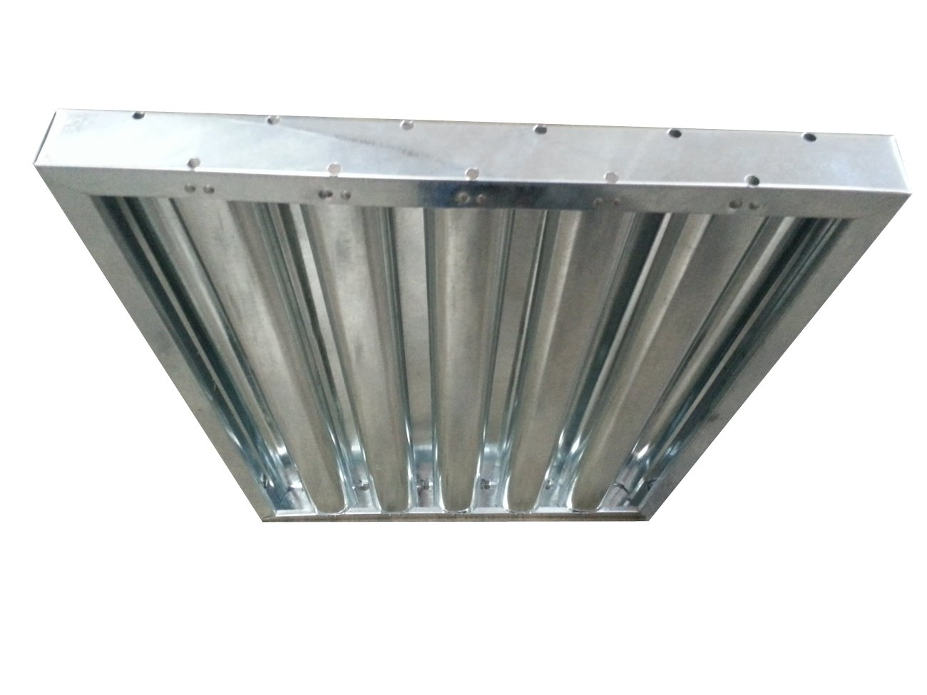 Flame Gard Galvanized Steel Heavy-Duty Baffle Grease Filter - 16''H x 16''W